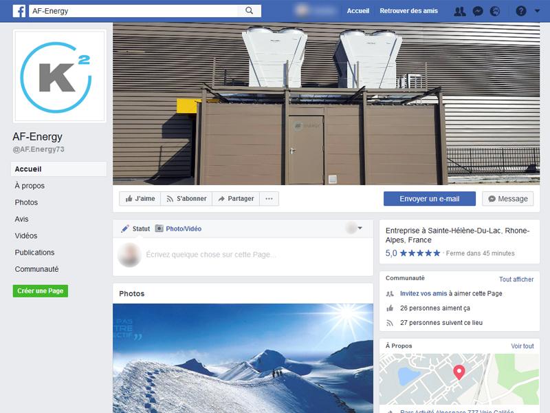 AF Energy est sur facebook